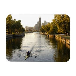 Chicago, Illinois, Rowers en la laguna de Lincoln  Imán De Vinilo
