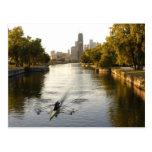 Chicago, Illinois, Rowers en la laguna de Lincoln  Tarjetas Postales