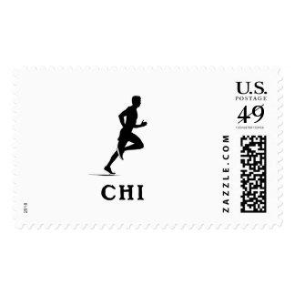 Chicago Illinois Running CHI Postage