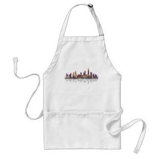 Chicago Illinois Skyline Adult Apron