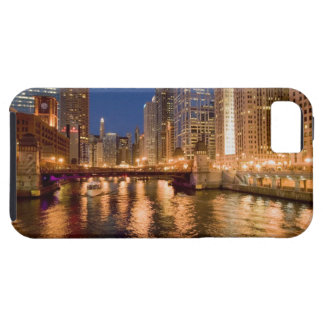 Chicago, Illinois, Skyline and Chicago River at 2 iPhone 5 Case