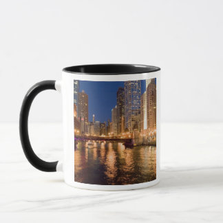 Chicago, Illinois, Skyline and Chicago River at 2 Mug