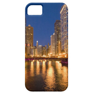 Chicago, Illinois, Skyline and Chicago River at iPhone 5 Cases