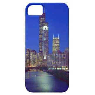 Chicago, Illinois, Skyline at night with Chicago iPhone 5 Cover