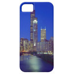Chicago, Illinois, Skyline at night with Chicago iPhone SE/5/5s Case