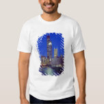 Chicago, Illinois, Skyline at night with Chicago T-shirt