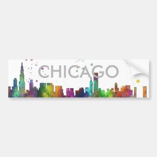 CHICAGO, ILLINOIS SKYLINE BUMPER STICKER