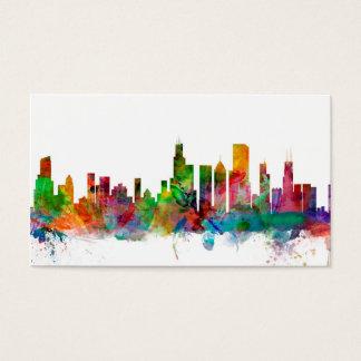 Chicago Illinois Skyline Business Card