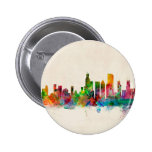 Chicago Illinois Skyline Cityscape Buttons