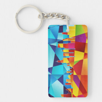 Chicago Illinois Skyline Cityscape Keychain