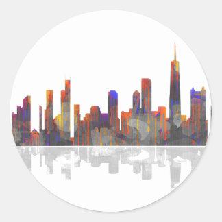 Chicago Illinois Skyline Classic Round Sticker