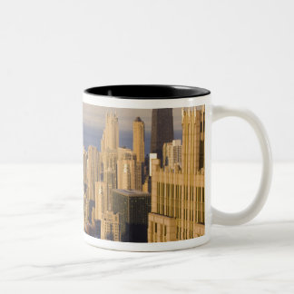 Chicago, Illinois, Skyline from the Sears Tower Two-Tone Coffee Mug