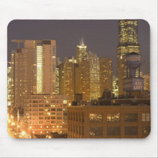 Chicago, Illinois, Skyline from West Loop at Mouse Pad
