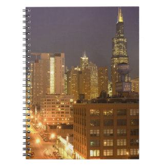 Chicago, Illinois, Skyline from West Loop at Notebook