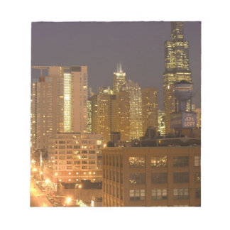 Chicago, Illinois, Skyline from West Loop at Notepad