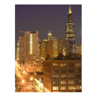 Chicago, Illinois, Skyline from West Loop at Postcard