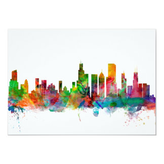 Chicago Illinois Skyline 5x7 Paper Invitation Card