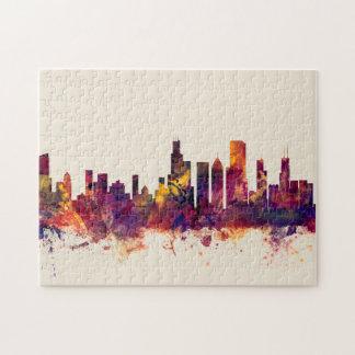 Chicago Illinois Skyline Jigsaw Puzzle