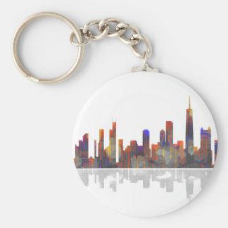 Chicago Illinois Skyline Keychain
