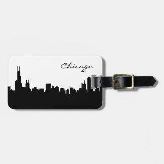 Chicago Illinois Skyline Luggage Tag