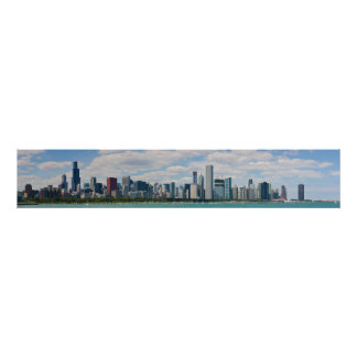 Chicago Illinois Skyline Panorama Poster