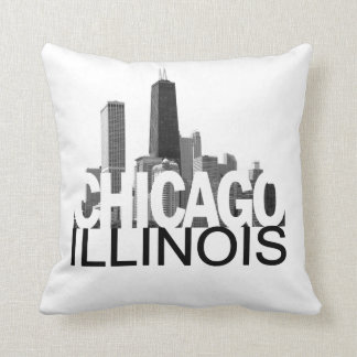 Chicago Illinois Skyline Pillows