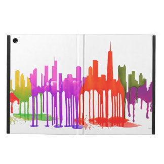 CHICAGO, ILLINOIS SKYLINE PUDDLES - COVER FOR iPad AIR
