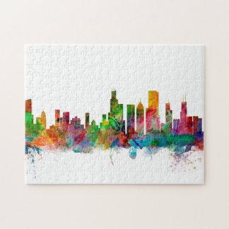 Chicago Illinois Skyline Jigsaw Puzzles