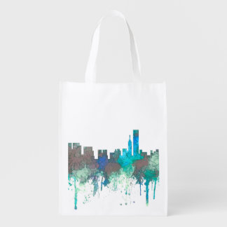 Chicago Illinois Skyline-SG-Jungle Grocery Bag