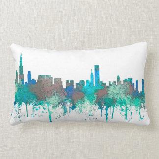 Chicago Illinois Skyline-SG-Jungle Lumbar Pillow