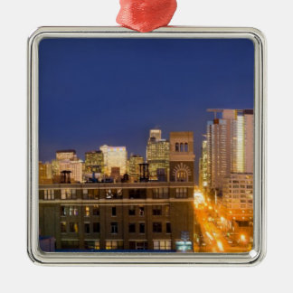 Chicago, Illinois, skyline shot from West Loop Christmas Tree Ornament