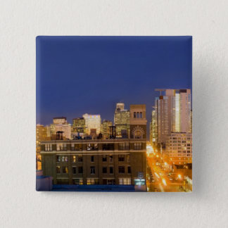 Chicago, Illinois, skyline shot from West Loop Pinback Button