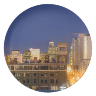 Chicago, Illinois, skyline shot from West Loop Plate