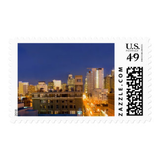 Chicago, Illinois, skyline shot from West Loop Postage