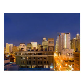 Chicago, Illinois, skyline shot from West Loop Postcard