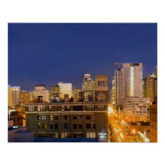 Chicago, Illinois, skyline shot from West Loop Poster