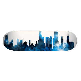 Chicago Illinois Skyline Skateboards