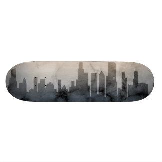 Chicago Illinois Skyline Custom Skateboard
