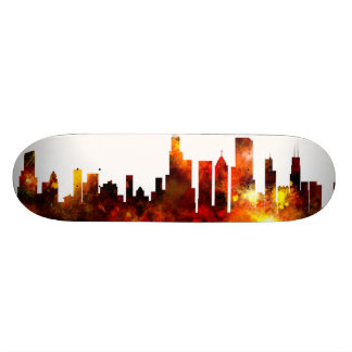 Chicago Illinois Skyline Skate Decks
