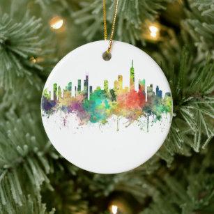 Personalized Ornament IL Christmas Ornament Chicago Illinois Ornament Stocking Stuffer Skyline Ornament Chicago Ornament