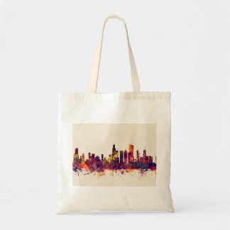 Chicago Illinois Skyline Tote Bag