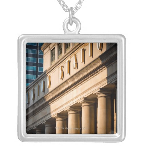 Chicago, Illinois Square Pendant Necklace
