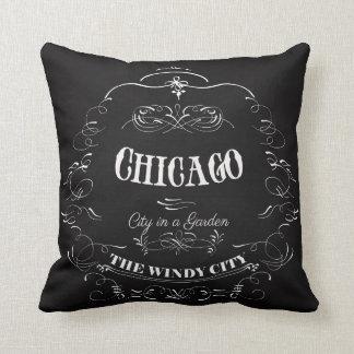 Chicago Illinois - The Wind City Throw Pillow