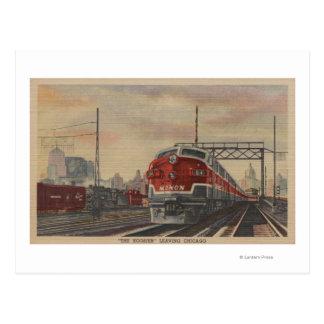 Chicago, Illinois / Train Postcard