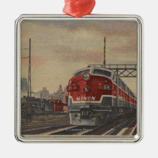 Chicago, Illinois/tren Adorno Cuadrado Plateado