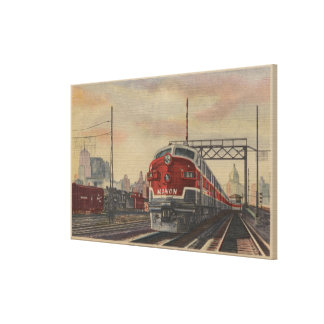 Chicago, Illinois/tren Lona Envuelta Para Galerías