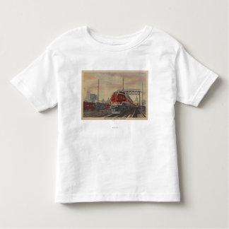 Chicago, Illinois/tren Camisetas