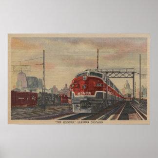 Chicago, Illinois/tren Póster