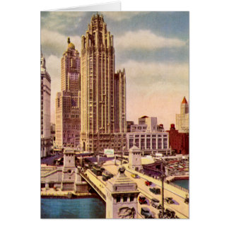 Chicago, Illinois Tribune Tower Card