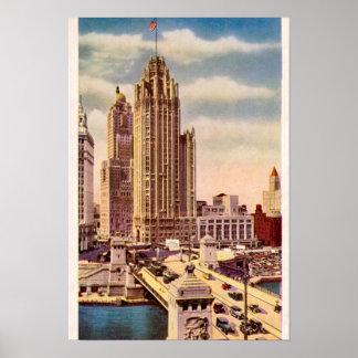 Chicago Illinois Tribune Tower Poster